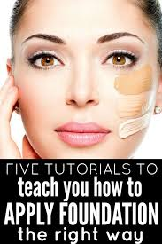 5 tutorials to teach you how to apply foundation like a pro makeup makeup how to apply foundation and makeup tips