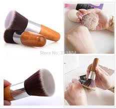picture of beauty makeup instrument wood manage free of charge shipping and delivery one pcs flat