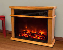 com lifesmart easy large room infrared fireplace includes deluxe mantle in burnished oak remote home kitchen