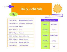 Summer Daily Schedule Template Kids Home Summer Schedule Keeping The Kids In Order During Summer