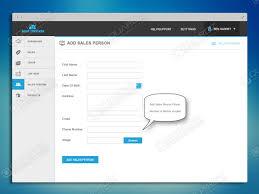 Sales Tracker App Sales Tracker Web App Add Sales Person Web App App Ui