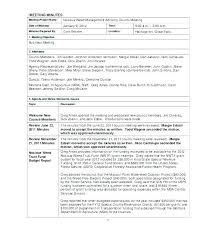 Informal Meeting Minutes Examples Template Fresh Sample Project Free
