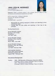Examples Of Resumes Best Sample Nanny Resume Objective With