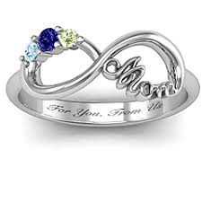 infinity mothers ring. sterling silver mom\u0027s infinite love ring with 2-10 stones infinity mothers u