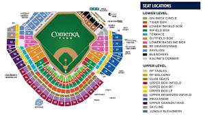 Detroit Tigers Seating Chart 37 Actual Comerica Park Seating