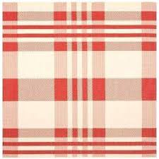 red plaid rug courtyard red bone 6 ft 7 in x 6 ft 7 in red red plaid rug