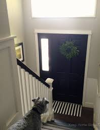 Split Level Living Room Entryway Foyer Makeover Painting Doors Paint Colors And Front Doors