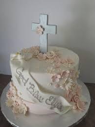 Flower Baptism Cake Byrdie Girl Custom Cakes