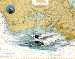 Us Navy Nautical Charts Uss Olympia Ssn 717 Los Angeles Class Submarine Print On