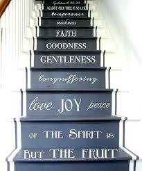 stair riser art wall decals also vinyl decal fruit of the spirit stair decals stair riser