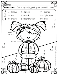 addition and subtraction coloring worksheets pages kids first grade math 3 digit
