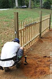 how to build a picket fence ashley
