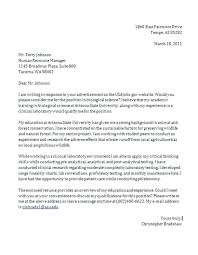 A Proper Cover Letters Resume Proper Cover Letter For Resume