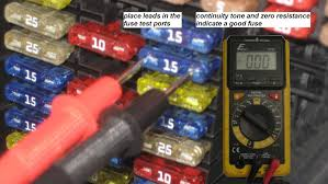 mercedes benz c class w204 fuse diagrams and commonly blown fuses testing fuses in place a multimeter