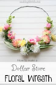 how to make a dollar wreath look beautiful