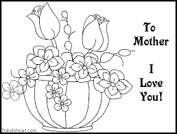 The black bordered lines beautifully children must get to know different shades, styles and methods to paint. Card To Color For Mom Mothers Day Coloring Pages Mother S Day Colors Super Coloring Pages