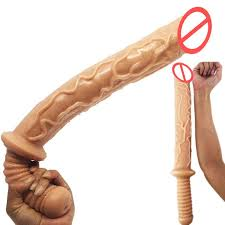 Large dildo with handle for women