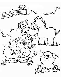 Funny Farm Animals Coloring Page For Kids Animal Coloring Pages