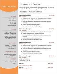 Free Basic Resume Templates Bestresume Com