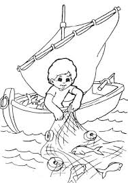Small Picture Fisherman Coloring Pages For Your Kids Fish nets