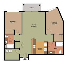 floor plan style y 2 bedroom apartment