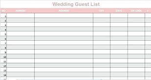 Wedding Guest List Template Excel Download Sample Wedding Guest List Spreadsheet Unique Invite Excel