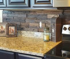 Brick wallpaper kitchen backsplash