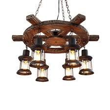6 light hanging ceiling lights nautical