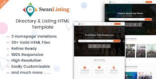 Template For Directory Swanlisting Is A Creative And Responsive Html Template For Directory