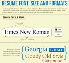 Best Font For Resume 2016