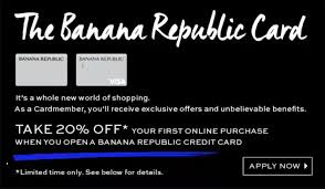 Your new credit card must be used as sole payment type. Banana Republic Credit Cards Rewards Worth It 2021