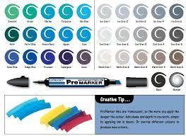 Promarker Blending Chart Letraset Promarker Colour Charts Micklesandmuckles
