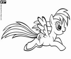 Kleurplaat De Pony Pegasus Rainbowdash Kleurplaten