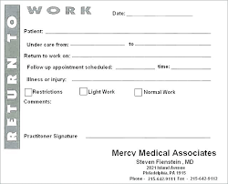 Fake Doctors Note Free For Work Doctor Excuse Letter For School Free Doctors Note Templates