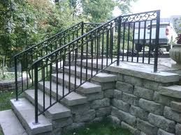iron railing for outside steps steel handrails outdoor popular metal stair design wrought railings interior images iron railing for outside steps