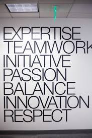 cool places to work sephoras company principles prominently displayed on an office wall brave business office decorating ideas awesome