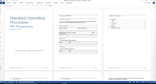 003 Template Ideas Standard Operating Procedure Word Ic Guest