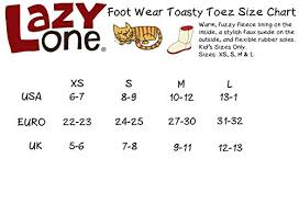 Lazy One Size Chart Lazy One Childrens Kids Horse Toasty Toez Boot Slippers
