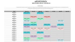 Schedule Word Employee Schedule Template In Excel And Word Format