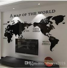 Free Shippingdiy 3d Acrylic Wall Sticker Wallpaper Of World Map For Office Living Room Decor Removable Wall Stickers For Kids Rooms Removable Wall