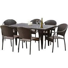 greenville pe wicker outdoor dining set