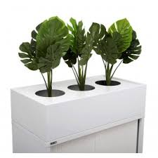 office planter. go steel planter box office _