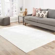 Shop Lizette Handmade Solid White Area Rug - 2' X 3' - Free Shipping ...
