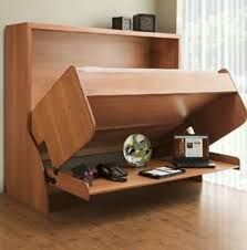 if you need a flexible space in your home you cant beat this wallbed that converts to a desk the way its designed you dont even need to move stuff off alluring murphy bed desk
