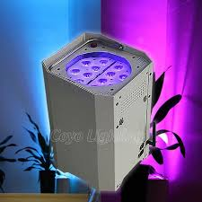 outdoor wireless battery powered led uplighting for wedding event
