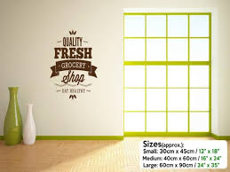 Small Picture Quality Fresh Grocery Shop Wall Window Door Sticker Wall