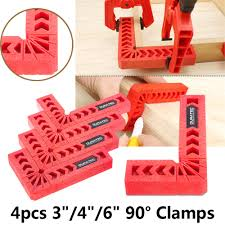 4 pcs l shape corner clamping square right angle clamps ruler 90 degree wood