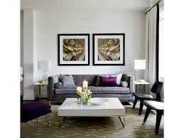 Purple Accent Chairs Living Room Patio Gray Area Rug Concrete Exposed Ducts Warehouse Furniture