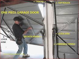 one piece garage doors