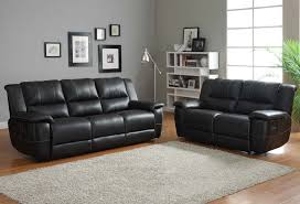 black leather reclining sofa. Homelegance Cantrell Reclining Sofa Set Black Bonded Leather Intended For